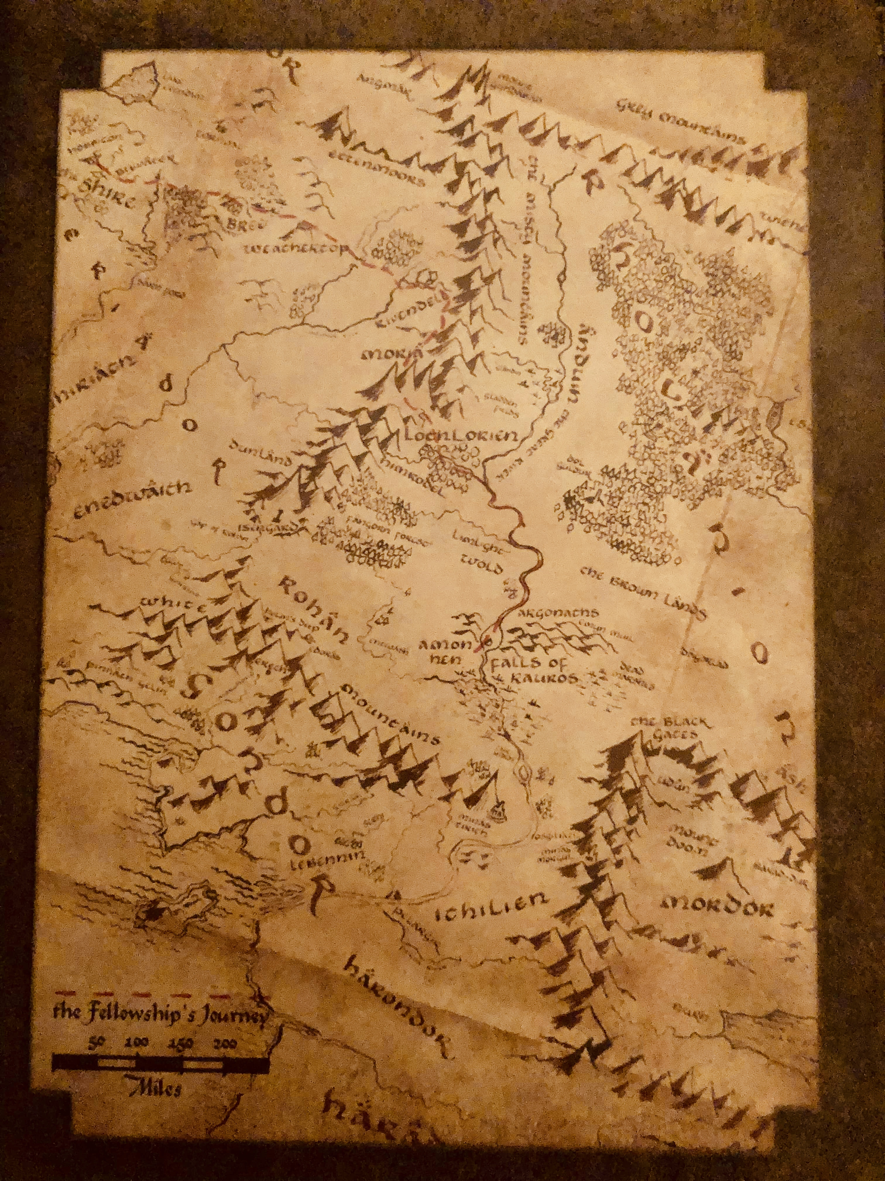 The middle-earth in the Lord of the Rings